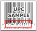 UPC number found under the barcode